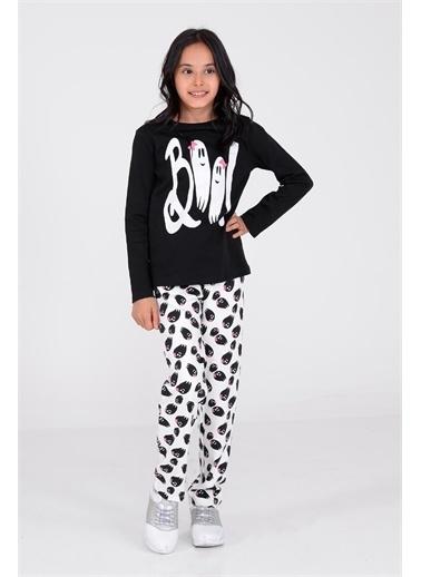 Silversun Kids Kız Çocuk Baskılı Pijama Takım - !Pjm 312974 Siyah